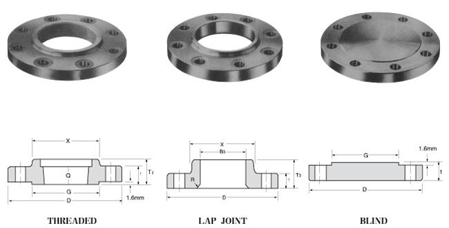 Carbon steel socket weld flange lap joint ansi