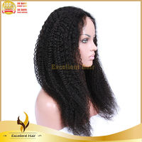 New arrival fast shipping low price high quality can be dyed tangel free brazilian afro kinky curl full lace wigs