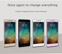 Colorful Tempered Glass Screen Protector For Xiaomi Redmi Note 2 Anti-explosion Full Color Glass Film For Hongmi Note 2