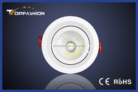 New designed aluminum alloy cover adjustable high power recessed led downlight fittings