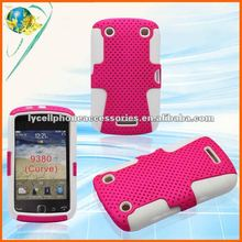 For Blackberry CURVE 9380 White&Pink Mobile Phone Silicone+PC Case