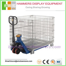 Heavy Duty Steel Mesh Pallet Storage Cage