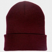 Mens Knitted Winter Caps Cuffed Plain Beanie Winter Cap