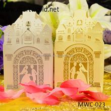 pink romantic house shape wedding favor gift boxes,gift boxes for wedding favors(MWC-023)