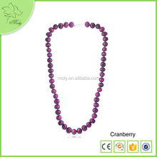 18 Inch Cheap Big Pearl Necklace Long Made Of A Grade 8-9 mm Coin Shape Colorful Pearls And 925 Silver Adjustable Clasp