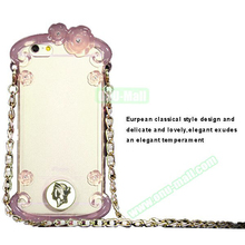 Newest design Perfume Bottle Pattern Protective tpu case for iphone 6 with chain