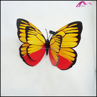Fashion Novelty Plastic Real Butterfly Animal Alligator Hair Clips Wholesale