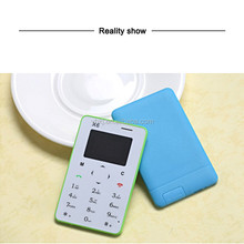 hot new products for 2015 very small card size phone pocket mobile phone