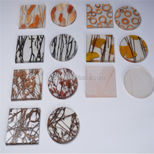 Silk screen printing new style acrylic coaster