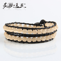 WPB118-WPB120 Hand-woven natural opal stone wrapped bracelet men and women lady unisex gift
