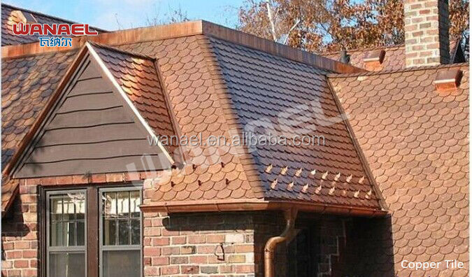 Fish scale roof tile copper roof shingle copper asphalt for Fish scale shingles