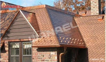 fish scale roof tile/copper roof shingle/copper asphalt roof tile