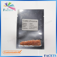 FACETS GEMS Wholesale Artificial CZ 1 Carat Round Brilliant Cut Diamonds