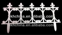 Decorative flower garden fencing