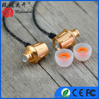 stylish 10MM driver unit gold matal earphones for portable media player&Mp3&Mp4