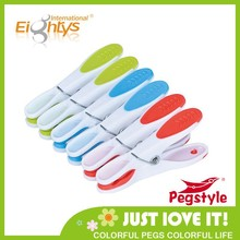 best price plastic clothespeg with TPR plastic peg color clothespin