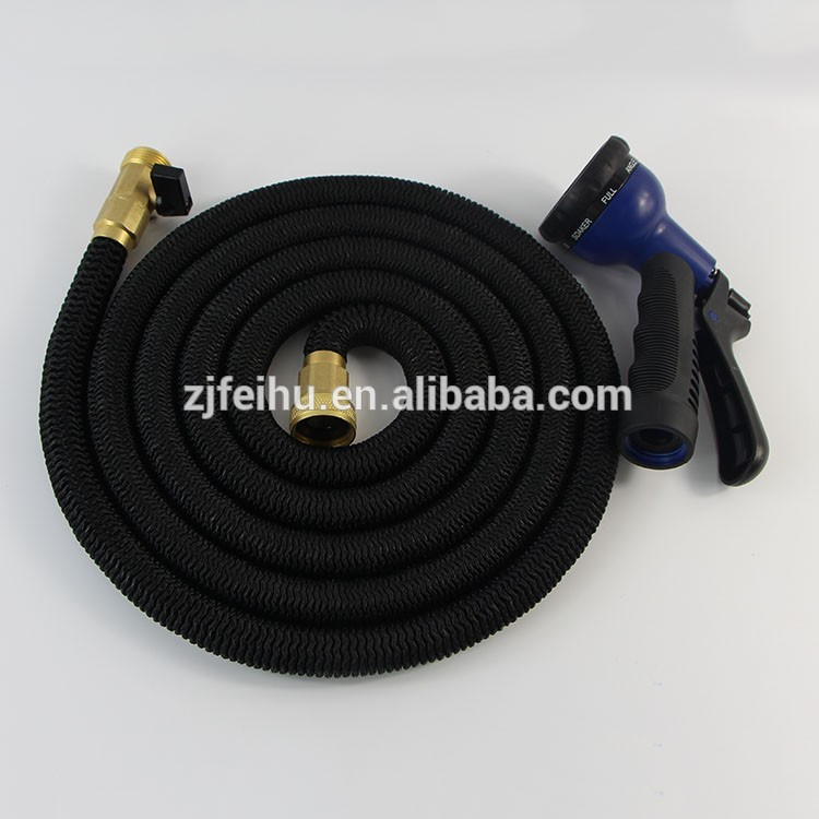 2016 innovative solid brass fitting garden hose with 8 pattern spray nozzle.jpg