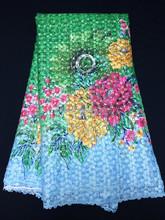 multi colour guipuir lace fabric beautiful color cuipure lace LN50428