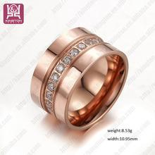 anillo de bodas acero inoxidable circon moderno anillo