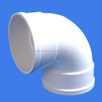 200mm different diameter upvc plastic pipe fitting 90 degree flange elbow