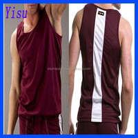 Wholesale hiqh quality Men's polyester Sports vest T-shirt Tank Top