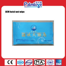 Disposable biodegradable wet wipe for hotel, restaurant wipe, OEM