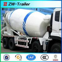 three axle self loading concrete mixer truck machine for construction use