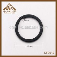 Fashion metal stainless steel black split key ring