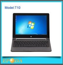 Hot selling 10 inch X86 intel N2806 fanless CPU slim laptop computer