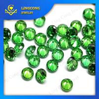 small size rough cut diamonds synthetic gemstone light green
