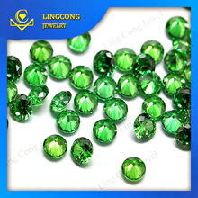 small size rough cut diamonds synthetic gemstone light green