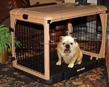 Pet Gear Tan 4 Door Folding Dog Cat Kennel Steel Crate Cage