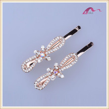 Fashion accessories hair clips channel bridal hair accessories with crystal for girls
