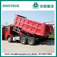 China HOWO 6X4 10-wheel dump truck with low price