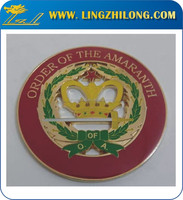 Gold Crown Auto Badges Zinc Alloy Car Logos Vehicle Emblem