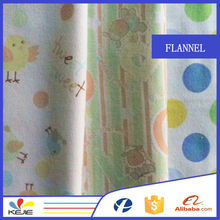 100% cotton printed woven plaid flannel fabric for cloth