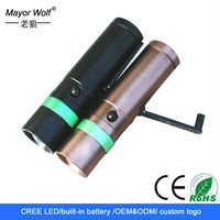 high power cree rechargeable light led dynamo torch