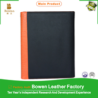 leather hard cover file folder mechanism / leather conference folders with notepad holders / presentation folder with pocket