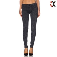 hot cotton brand clothing for women denim jeans wholesale printed leggings JXQ1000