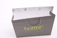 promotional shopping paper bag use white kraft paper for apparel