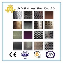 Metal construction material decorative wall embossed stainless steel series sheets