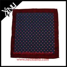 2015 New Fashion Silk Design Wholesale Printed Mens Handkerchief