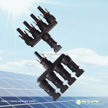 1Male+4Female&1Female+4Male, Waterproof IP67, 1 to 4 MC4 T branch solar connector