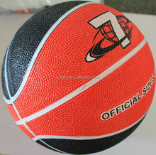 rubber material colorful custom printed basketball