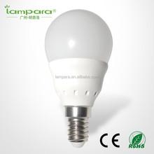 CE RoHS thermal conductive plastic with aluminum bulb 3w e14 led bulb,cool white light led E27 cheap led bulb e14