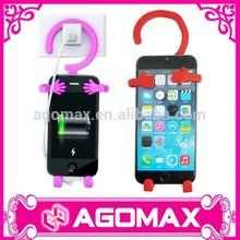 Novo produto de tecnologia na china dobrável de silicone telefone celular gancho de carga