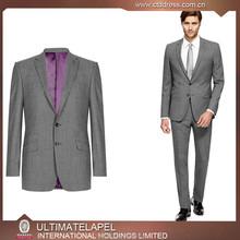2015 new arriving high end 100% wool light grey men suite