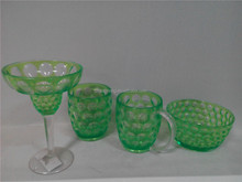 New product green plastic cups set