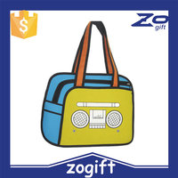 ZOGIFT2015 latest radio cartoon 3d hand bag,3d cartoon shoulder bag