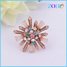 alibaba china Wholesale anti gold rings with colorful stone and acrylic finger rings